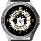 Edinburgh City Football Club Round Metal Watch
