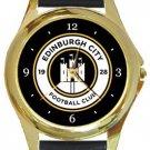 Edinburgh City Football Club Gold Metal Watch
