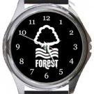 Nottingham Forrest FC Round Metal Watch