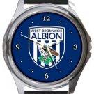 West Bromwich Albion Football Club Round Metal Watch