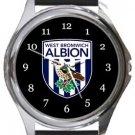 West Bromwich Albion FC Round Metal Watch