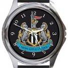 Newcastle United FC Round Metal Watch