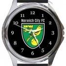 Norwich City FC Round Metal Watch