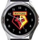 Watford FC Round Metal Watch