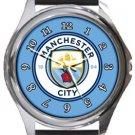 Manchester City FC Round Metal Watch