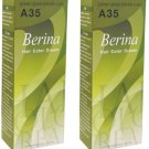 X2 Berina A35 Golden Green Blonde Permanent Hair Dye Color Blond Emo Punk Goth
