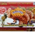 Thai Asantee Tamarind Goat Milk Soap AHA Collagen Eczema Honey Skin Whitening