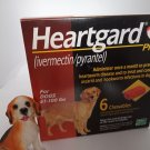 Heartgard Plus Large Dogs Dewormer Heartworm Roundworm Hookworm Tapeworm 6 Month