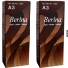X2 A3 Berina Red Brown Permanent Hairdye Color Reddish Brown Brunette Auburn Emo