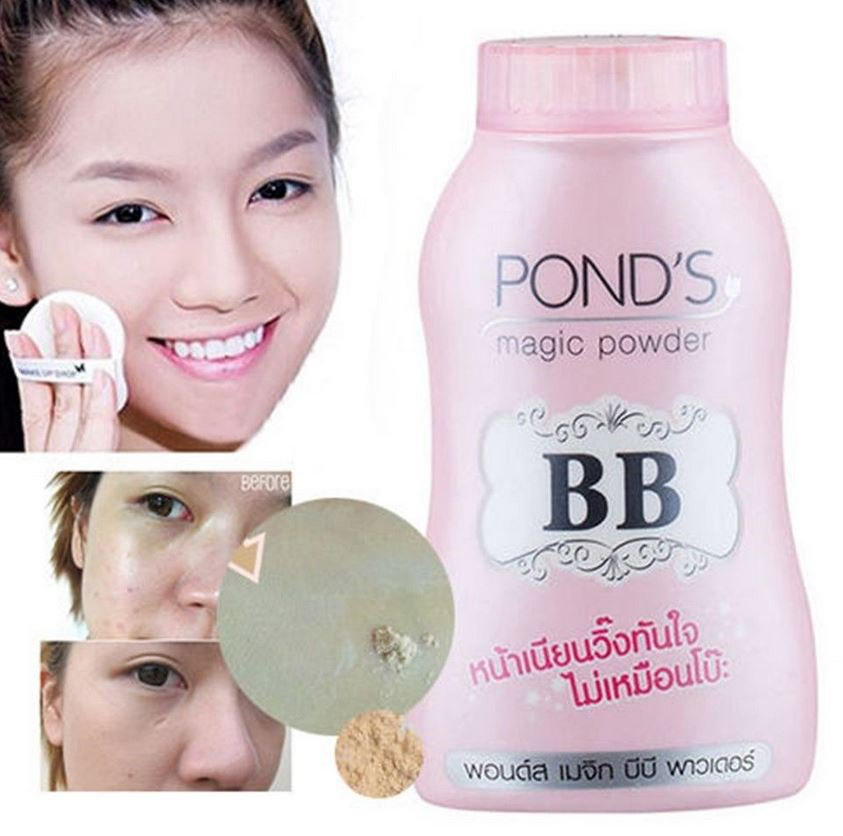 Ponds BB Magic Powder Talc Vitamin B3 Sebum Control matte Face Foundation Acne