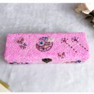 Children Hand-made DIY Wood Pencil Box Snow Mud Snowflake Clay
