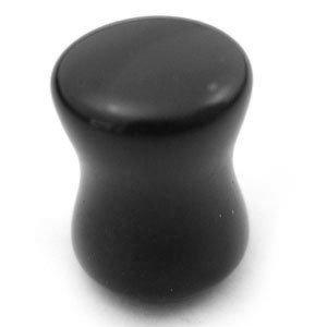 Stone Plug-Black Agate