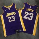 New Los Angeles Lakers 23# LeBron James Purple Jersey Fine Embroidery