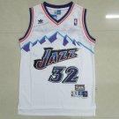 Men's Utah Jazz #32 Karl Malone Throwback Jersey White Adidas