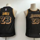 Youth Kids New Lakers #23 Lebron James Jesey Black 2018-19
