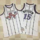 Men's Toronto Raptors 15# Vince Carter Fine Embroidery Jersey White