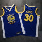 Men's Golden State Warriors #30 Stephen Curry Jersey Blue Fine Embroidery