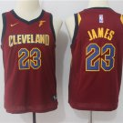 Youth Cavaliers 23 Lebron James Red Basketball Jersey