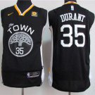 Youth Golden State Warriors 35 Kevin Durant Basketball Jersey black