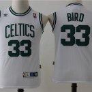 Youth Boston Celtics #33 Larry Bird Basketball Jersey white
