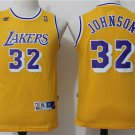 Youth Lakers #32 Earvin Johnson Yellow Basketball Jersey