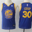 Youth Warriors 30 Stephen Curry Basketball Jersey blue