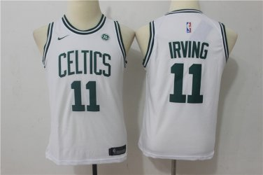 buy online f2157 518c1 Youth Boston Celtics #11 Kyrie Irving Basketball Jersey WHITE