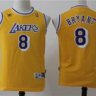 Youth Lakers 8 Kobe Bryant Basketball Jersey Yellow