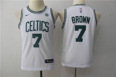 official photos 734de 3aa63 Youth Boston Celtics 7 Jaylen Brown Basketball Jersey White