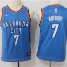 Youth Carmelo Anthony Oklahoma City Thunder 7 Basketball Jersey Blue