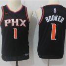 Youth Phoenix Suns 1 Devin Booker Basketball Jersey black