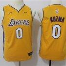 Youth Los Angeles Lakers 0 Kyle Kuzma Yellow Basketball Jersey