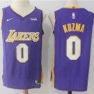 Youth Los Angeles Lakers 0 Kyle Kuzma Basketball Jersey purple