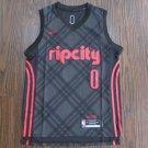 Men's Portland Trail Blazers 0 Damian Lillard Black Jersey New