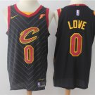 Mens Cleveland Cavaliers #0 Kevin Love Black Jersey