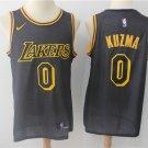 Mens Lakers #0 Kyle Kuzma Black Basketball Jersey