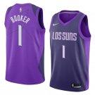 Men's Phoenix Suns #1 Devin Booker Jersey Purple