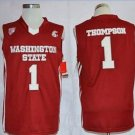 Men's Washington State Cougars 1 Klay Thompson Red Basketball Jersey