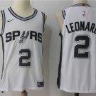 Men's San Antonio Spurs 2 Kawhi Leonard White Jersey