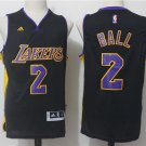 Men's Los Angeles Lakers 2 Lonzo Ball Jersey Black
