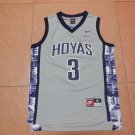 Men's NEW Georgetown Hoyas 3 Allen Iverson Gray Jersey