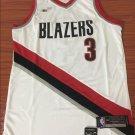 Men's Portland Trail Blazers 3# CJ. McCollum White Jersey