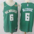 Men's Milwaukee Bucks #6 Eric Bledsoe Jersey Green