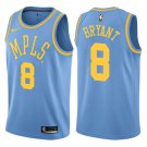 Men's Los Angeles Lakers #8 Kobe Bryant Basketball Jersey Blue MPLS