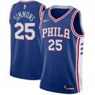 Men's 76ers #25 Ben Simmons Basketball Jersey Blue City Edition