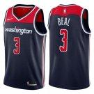 Men's Washington Wizards #3 Bradley Beal Basketball Jersey Navy Blue