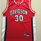Men's Davidson Wildcats 30 Stephen Curry #30 Red College Jersey