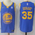 Men's Golden State Warriors #35 Kevin Durant Basketball Jersey Blue