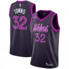 Men's Timberwolves #32 Karl-Anthony Towns Basketball Jersey Purple City Edition