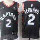 Men's Toronto Raptors 2 Kawhi Leonard Basketball Jersey Black